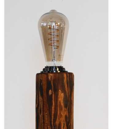 Φωτιστικό δαπέδου από ξύλο, μέταλλο και σχοινί 207