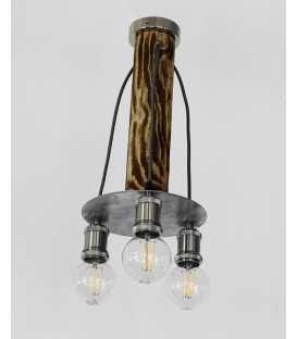 Wood and metal pendant light 234