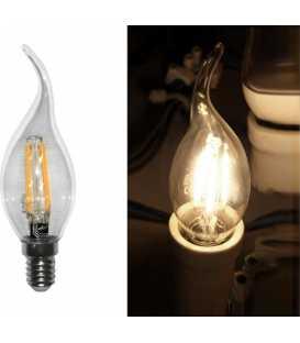 Glühlampe Led COG E14 Klare Kerze mit Schwanz 230V 6W Warmweiß (13-14016002)