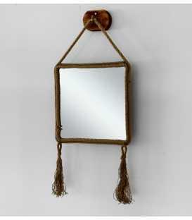 Wandspiegel mit Rahmen aus Seil 251