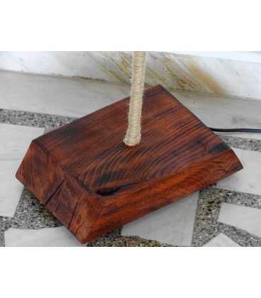 Φωτιστικό δαπέδου από ξύλο, μέταλλο και σχοινί 265
