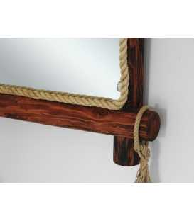 Wood and rope wall mirror 202