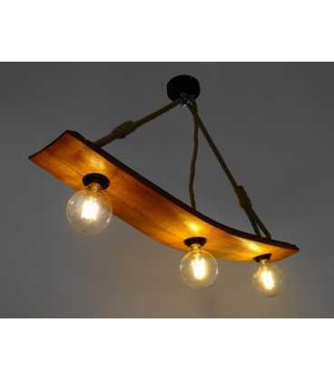 Κρεμαστό φωτιστικό οροφής από ξύλο και σχοινί 268
