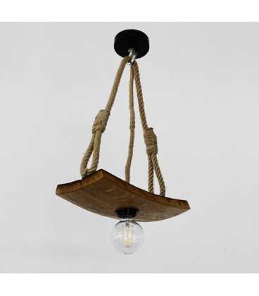 Κρεμαστό φωτιστικό οροφής από ξύλο και σχοινί 270