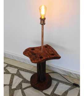 Wood and metal floor lamp 283
