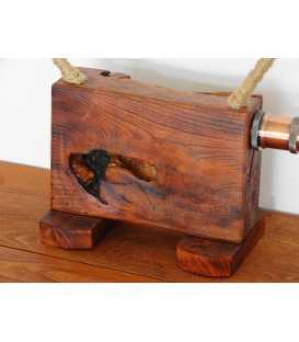 Διακοσμητικό φωτιστικό επιτραπέζιο από ξύλο και σχοινί 293