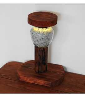 Διακοσμητικό φωτιστικό επιτραπέζιο από ξύλο και γυάλινο βάζο με διακοσμητική άμμο 294