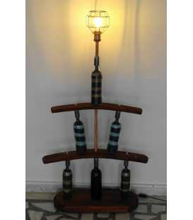 Wine bottles and solid wood floor lamp 297