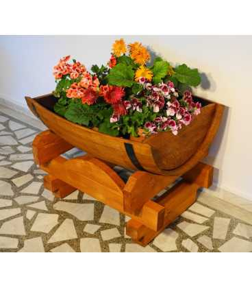 Weinfass Blumenkübel