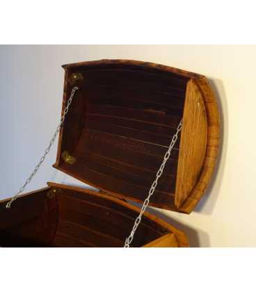 Wein barrel storage chest