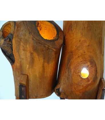 Holzstehleuchte