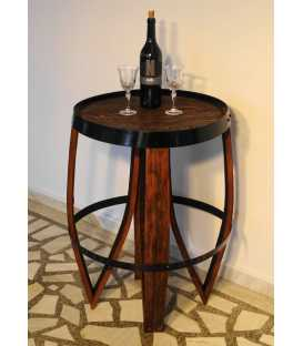 Wooden wine barrel table 028