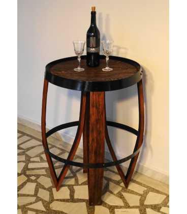 Βοηθητικό τραπεζάκι από ξύλινο βαρέλι κρασιού