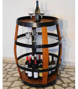 Τραπέζι-μπαράκι από ξύλινο βαρέλι κρασιού 029