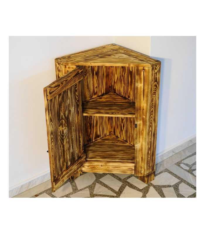 Pallet wood corner cabinet 036