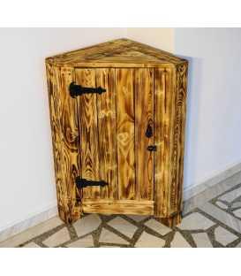 Pallet wood corner cabinet