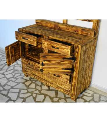 Ντουλάπι με 4 συρτάρια και 2 πόρτες από ξύλα παλέτας