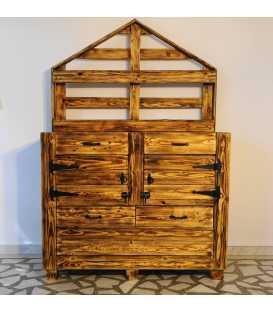 Ντουλάπι με 4 συρτάρια και 2 πόρτες από ξύλα παλέτας 037