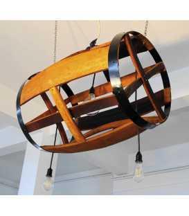 Holz und Metall hängende Deckenleuchte 018