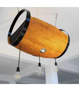 Holz und Metal hängende Deckenleuchte 044