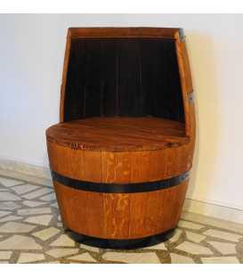 Πολυθρόνα από ξύλινο βαρέλι κρασιού