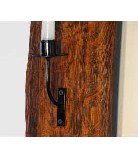 Wine barrel stave wall candle holder 053