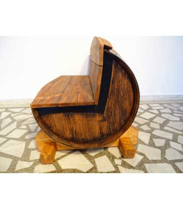 Σετ 2 καναπέδες με τραπέζι από ξύλινα βαρέλια κρασιού