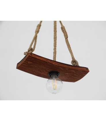 Wood and rope pendant light 077