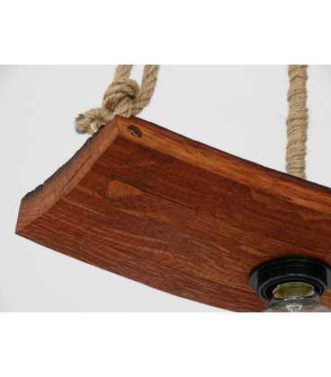 Holz und Seil hängende Deckenleuchte 077
