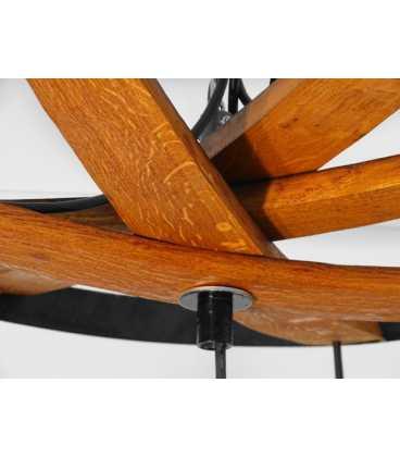 Holz und Metal hängende Deckenleuchte