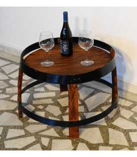 Wine barrel side table 010