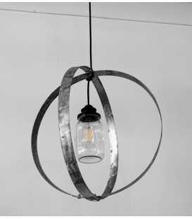 Κρεμαστό φωτιστικό οροφής από μέταλλο και γυάλινο βάζο 139
