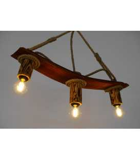 Wood and rope pendant light 176