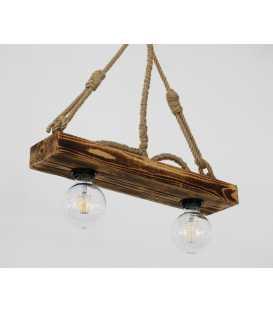 Holz und Seil hängende Deckenleuchte 177