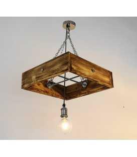 Holz und Metal hängende Deckenleuchte 193